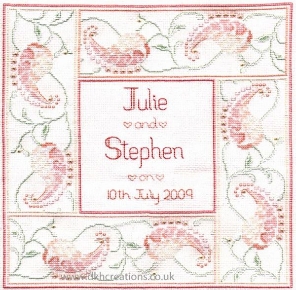 Marriage Sampler Cross Stitch Kit